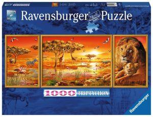 puzzle Ravensburger 1000 dílků - Triptych - Krása  Afriky  198368