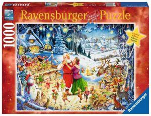 puzzle Ravensburger 1000 dílků - Vánoční návštěva 198931