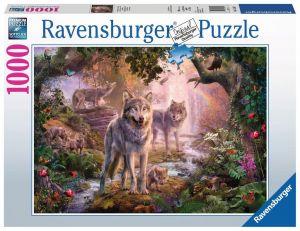 puzzle Ravensburger 1000 dílků - Vlci v létě   151851