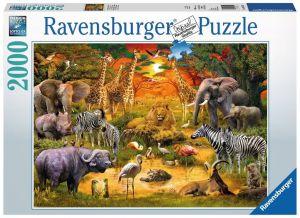 puzzle Ravensburger  2000 dílků Setkání divokých zvířat  167029