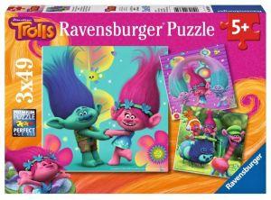 puzzle Ravensburger 3x49 dílků   Trolové 093649