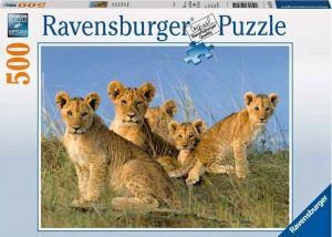 puzzle Ravensburger  500 dílků - Lvíčata   147915