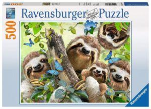 puzzle Ravensburger  500 dílků - Selfie lenochodů   -  147908