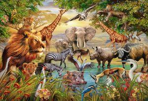 puzzle Ravensburger 500 dílků - Setkání divokých zvířat 148097