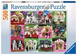 puzzle Ravensburger  500 dílků - Štěňátka - koláž  146598
