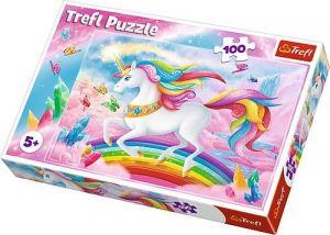 Puzzle Trefl 100 dílků - Ve světě jednorožců  16364