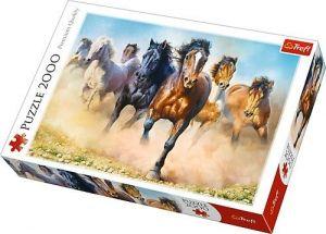 Puzzle Trefl 2000 dílků - Cválající stádo koní   27098