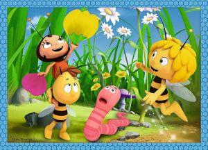puzzle Trefl 35, 48, 54 a 70 dílků - 4v1 - Včelka Mája 34320