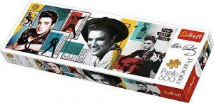 puzzle Trefl 500 dílků panorama - Elvis Presley - koláž  29510