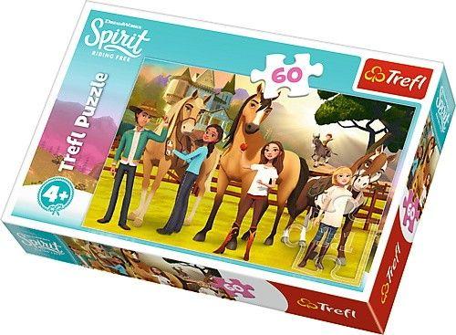 Puzzle Trefl 60 dílků - Spirit - chuť přátelství 17331