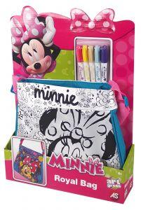 Taška  k vymalování + 5 fixů - Minnie Mouse