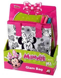 Taštička k vymalování + 3 fixy - Minnie Mouse