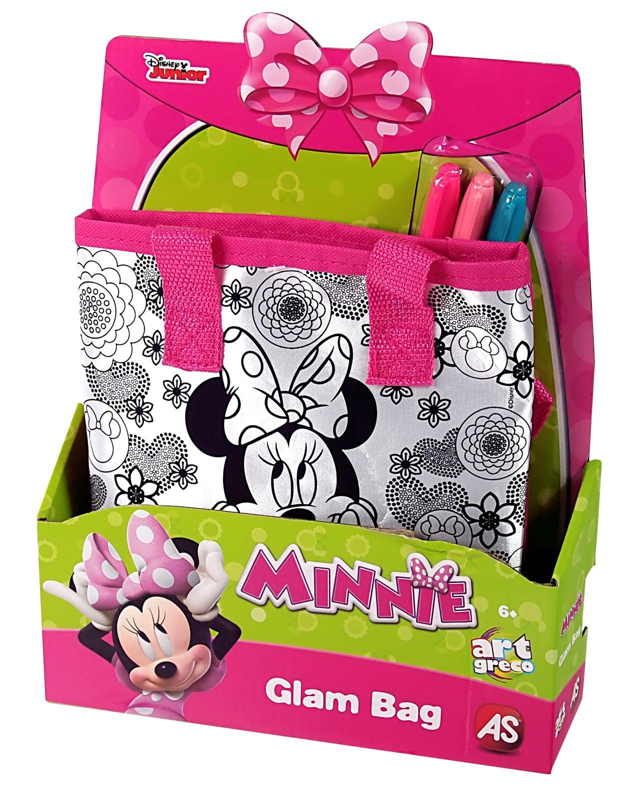 Taštička k vymalování + 3 fixy - Minnie Mouse AS Company