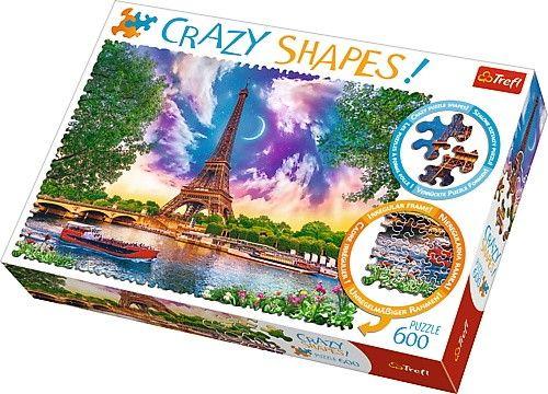 Trefl puzzle 600 dílků Crazy Shapes - Nebe nad Paříží 11115