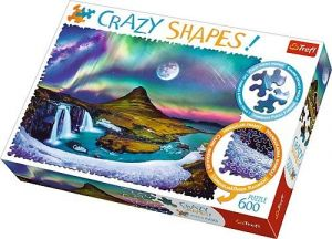Trefl puzzle 600 dílků  Crazy Shapes - Polární zář nad Islandem  11114
