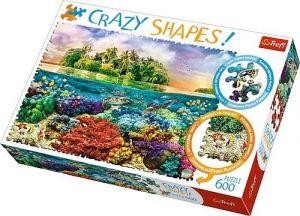 Trefl puzzle 600 dílků  Crazy Shapes - Tropický ostrov  11113