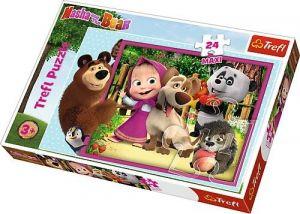 Trefl Puzzle Maxi 24 dílků - Máša a medvěd  14301