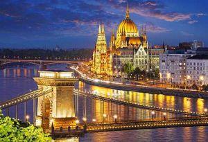 Castorland - Budapešť - Západ slunce  - Puzzle 2000 dílků