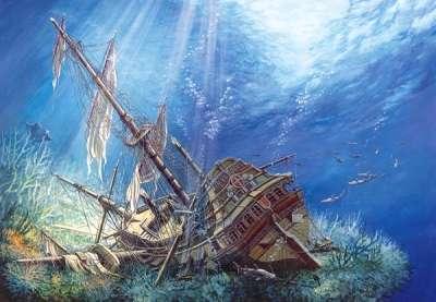 Castorland - Potopená loď - Galeona - Puzzle 2000 dílků 200252