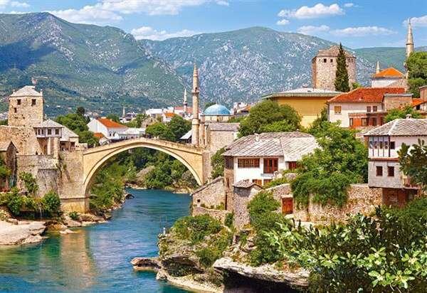 Castorland - Mostar - Bosna a Hercegovina - Puzzle 1000 dílků art. 102495