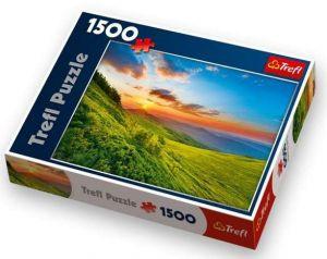 1500 dílků  Beskydy - Polsko  - puzzle Trefl