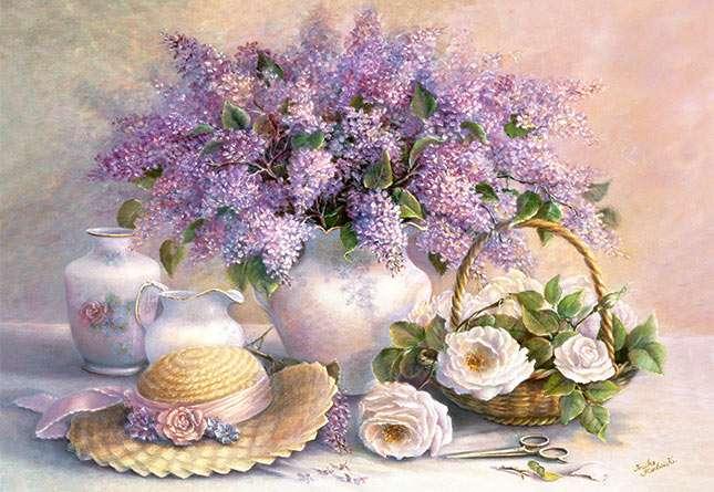 Castorland - Zátiší - květiny s kloboukem - Puzzle 1000 dílků art. 102006