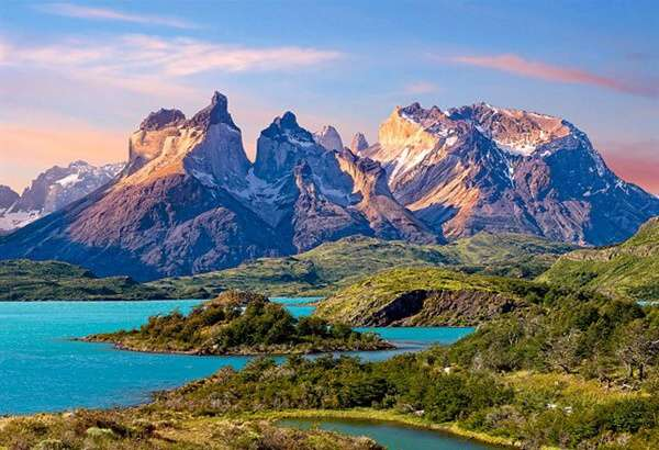Castorland - Chile - Patagónie - Horské štíty - Puzzle 1500 dílků art. 150953