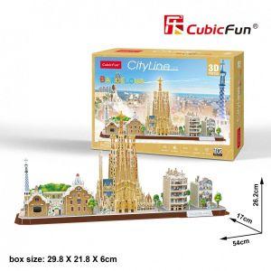 3D puzzle CubicFun CityLine - Barcelona 186 dílků Cubic Fun