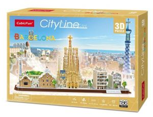 3D puzzle CubicFun CityLine - Barcelona  186 dílků