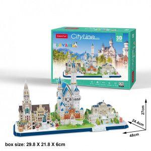 3D puzzle CubicFun CityLine - Bavorsko 178  dílků