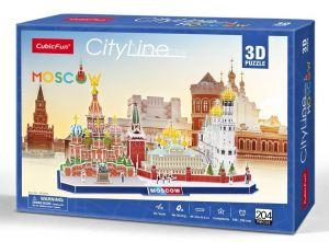 3D puzzle CubicFun CityLine - Moskva 204 dílků