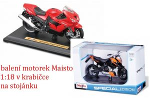 Maisto motorka na stojánku - Yamaha FJR 1300 1:18 černá Miasto