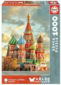 EDUCA Puzzle 1000 dílků - Chrám Vasila Blaženého 17998