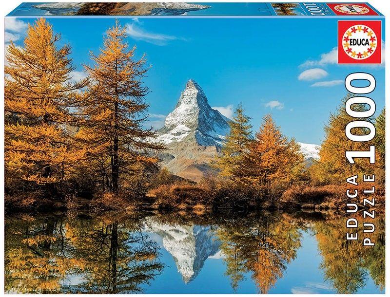 EDUCA Puzzle 1000 dílků - Matterhorn na podzim 17973