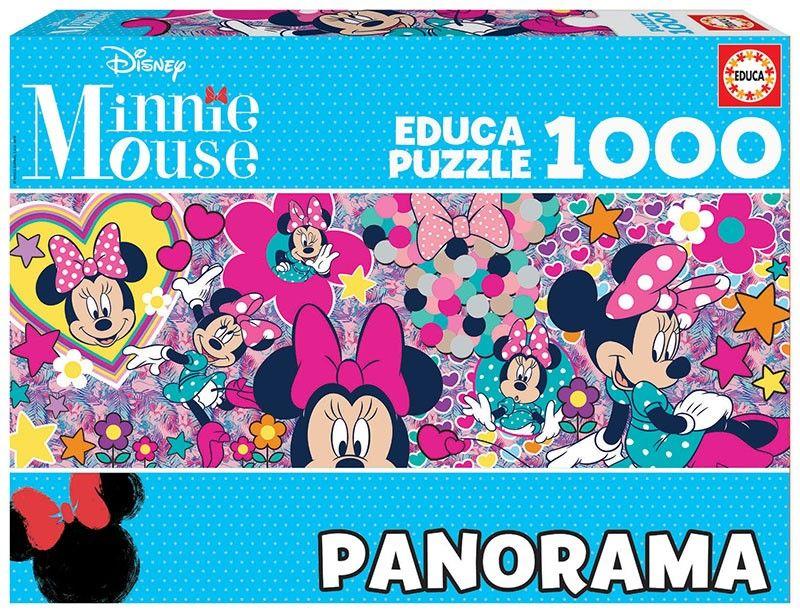 EDUCA Puzzle 1000 dílků panorama - Minnie 17991