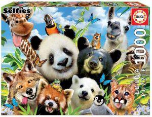 EDUCA Puzzle 1000 dílků - Zvířecí selfie  18117