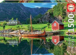 EDUCA Puzzle 1500 dílků  Vikingská loď 18006