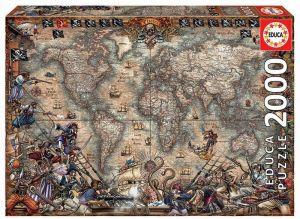 EDUCA Puzzle 2000 dílků   Pirátská mapa  18008