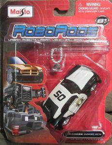 Maisto Roborods  ( transformér )  - Dodge  Charger  SRT8 - černo bíá barva
