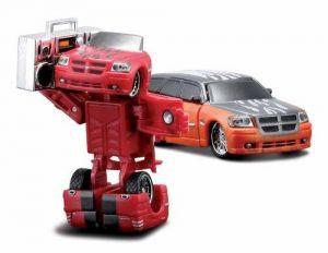 Maisto Roborods  ( transformér )  - Dodge Magnum červená berva
