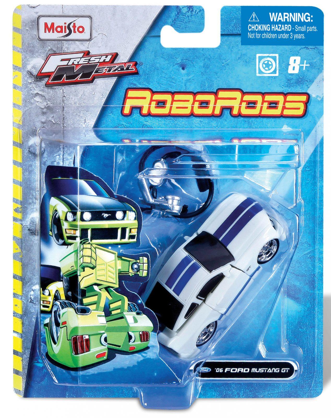 Maisto Roborods ( transformér ) - Ford Mustang GT bílá barva