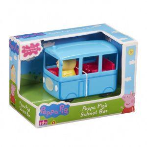 Prasátko PEPPA - školní autobus  s 1 figurkou 06576