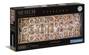 Puzzle Clementoni 1000 dílků  panorama - Michelangello - strop Sixtínské kaple   39498