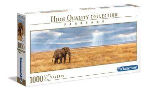 Puzzle Clementoni 1000 dílků  panorama - Ztracený slon  39484