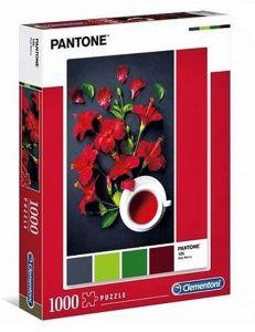Puzzle Clementoni 1000 dílků - Pantone - Červený Ibišek 39494