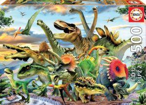 Puzzle EDUCA 500 dílků - Dinosauři  17961