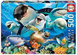 Puzzle EDUCA 500 dílků - Podvodní selfie 17647