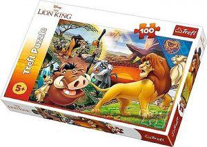 Puzzle Trefl 100 dílků - Lví král - dobrodružství Simby 16359