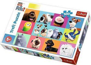 Puzzle Trefl 100 dílků - Tajný život mazlíčků 2  16357