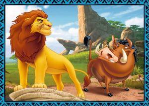 puzzle Trefl 35, 48, 54 a 70 dílků - 4v1 - Lví král 34317